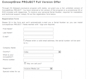 Free $ 199 worth ConceptDraw PROJECT 4 License