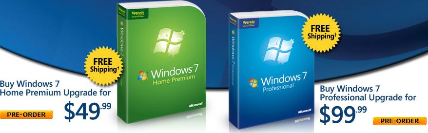 Pre-order Windows 7