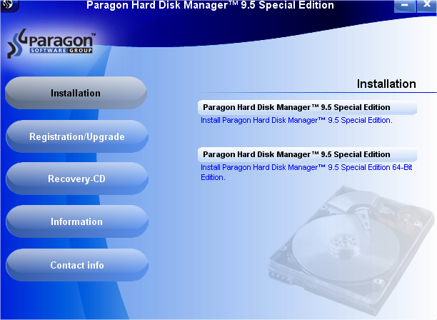 Paragon Hard Disk Manager 9.5 Special Edition