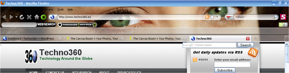 Canvas Boom Theme for Firefox3.5