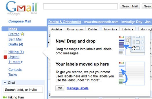 Google adds drag and drop support to Gmail