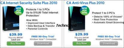 Free 90 Days License for CA Internet security plus 2010 license