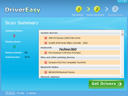 Driver-easy1 DriverEasy : Automatically download latest Win7 drivers