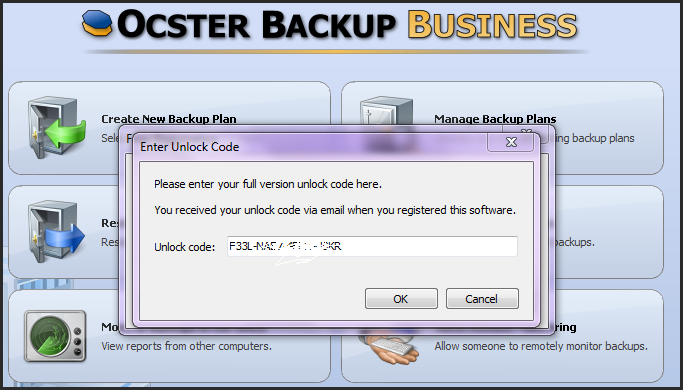 Ocster-Backup-Business-license1 Ocster Backup Business For Free