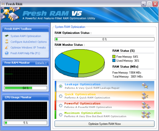 Fresh RAM 5 for Free