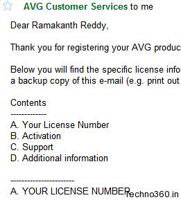 AVG AntiVirus 9, Free 1 year License