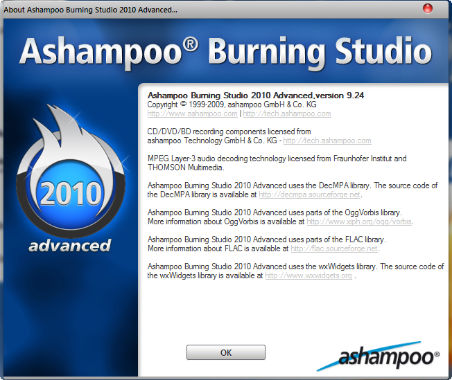 Ashampoo Burning Studio 9.241 Ashampoo Burning Studio 2010 Advanced FREE 9.24 Download Last Update