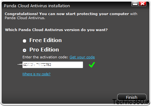 Panda Cloud Antivirus Pro Edition license key & Panda Cloud Antivirus