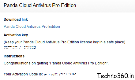 Panda Cloud Antivirus PRO Free 1year license