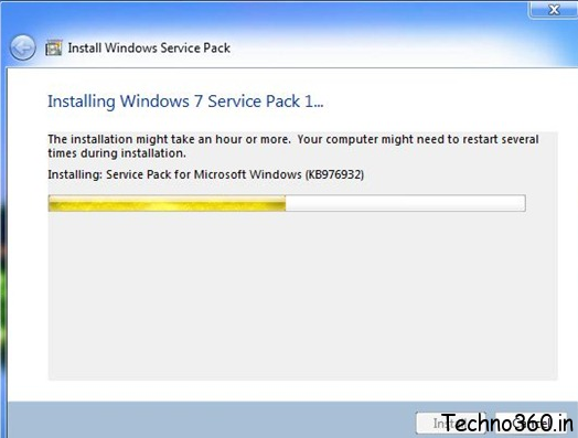 Troubleshoot problems installing service pack 1 sp1 for for Window 7 service pack 1