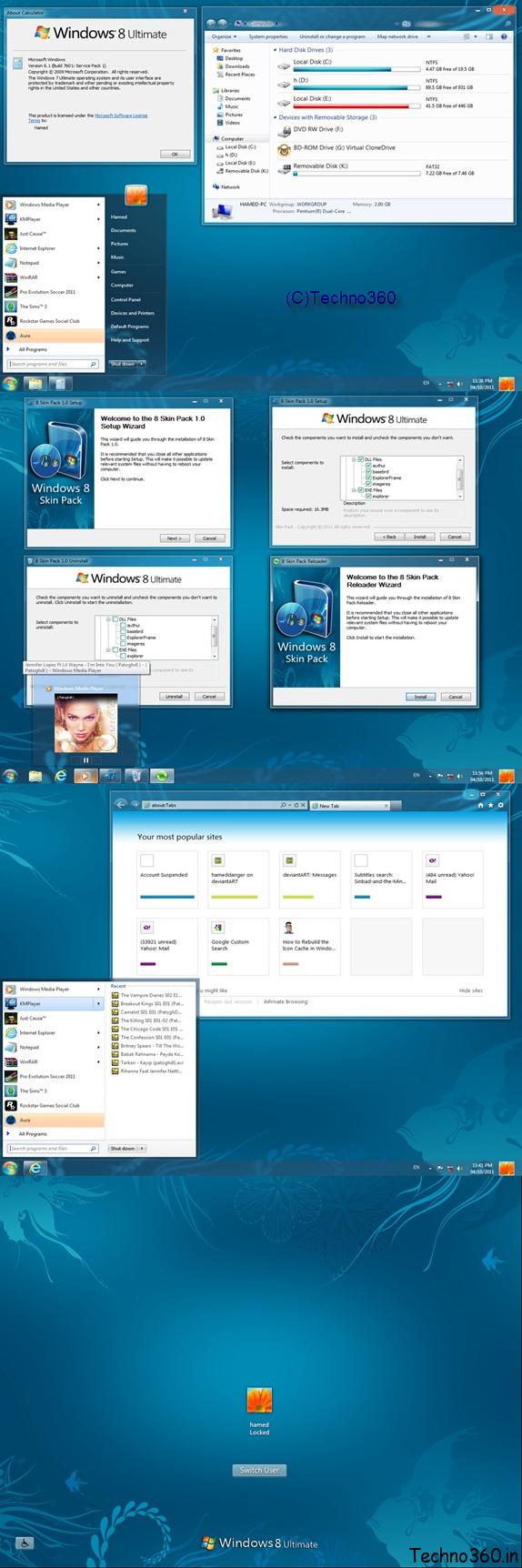 Download Windows 8 Skin Pack