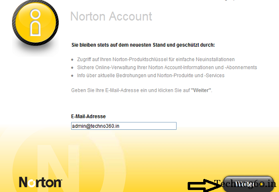 Norton-account Norton AntiVirus 2012 Free 180 days License