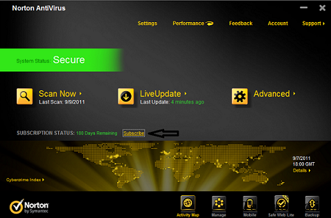 Norton-antivirus-2012-subscription Norton AntiVirus 2012 Free 180 days License