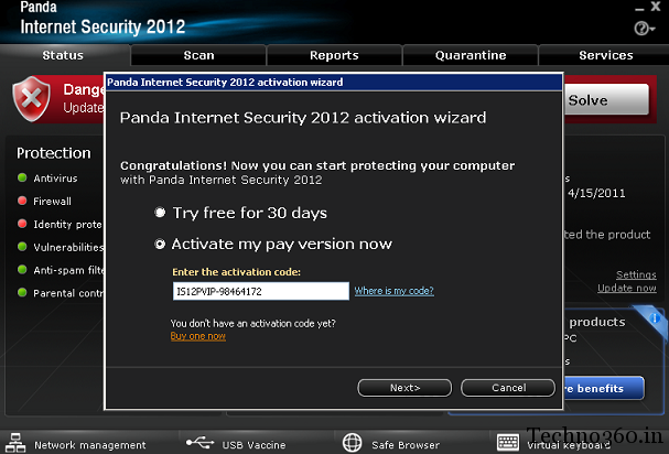 Panda Internet Security 2012 Free 6 Months License