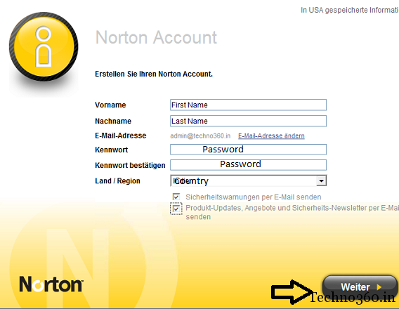 norton-account-registration Norton AntiVirus 2012 Free 180 days License