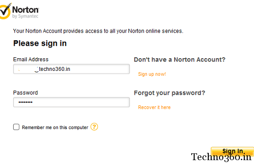 techno360-norton-account Norton AntiVirus 2012 Free 180 days License