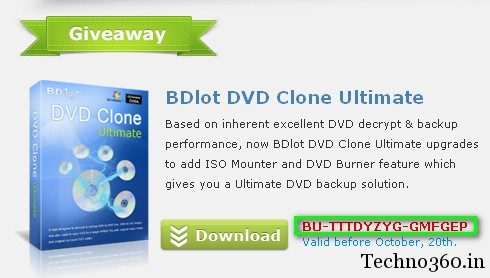 BDlot DVD Clone Ultimate free license