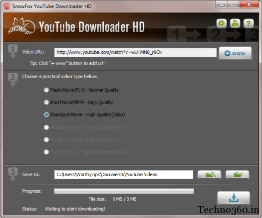 SYD-1 SnowFox YouTube Downloader HD now freeware