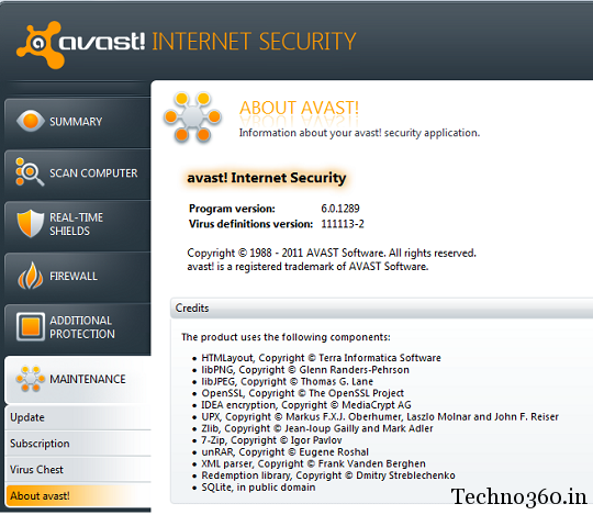 avast Internet Security 2012 free 6 Months License