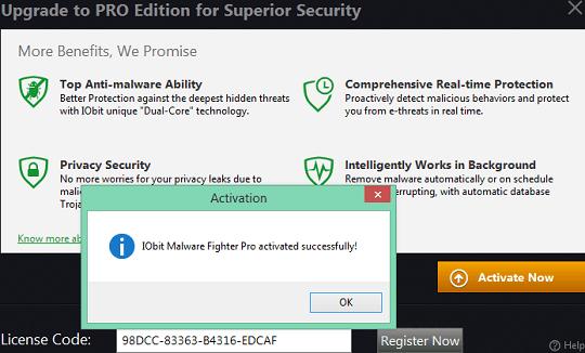 Iobit malware fighter pro license