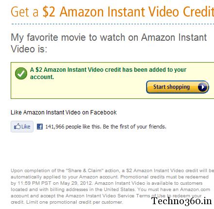get 2 amazon instant video credit for free. Black Bedroom Furniture Sets. Home Design Ideas