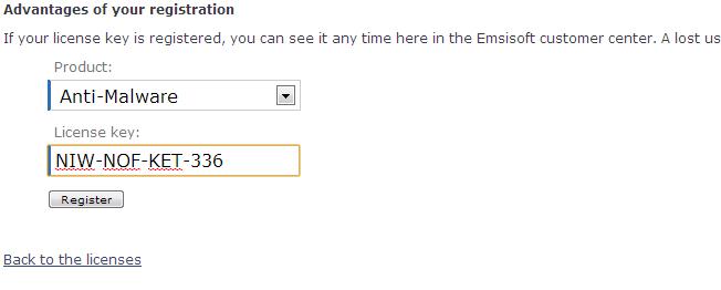 emsisoft anti malware free license key