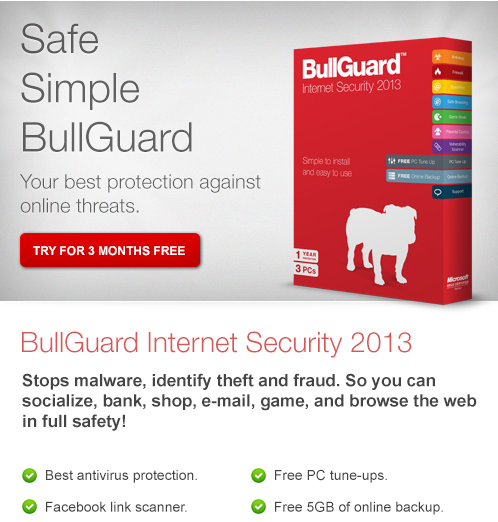 BullGuard Internet Security 2013 Free 6 Months License