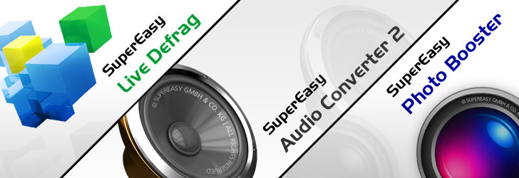Super Easy Photo Booster,Audio Converter & Live Defrag for Free