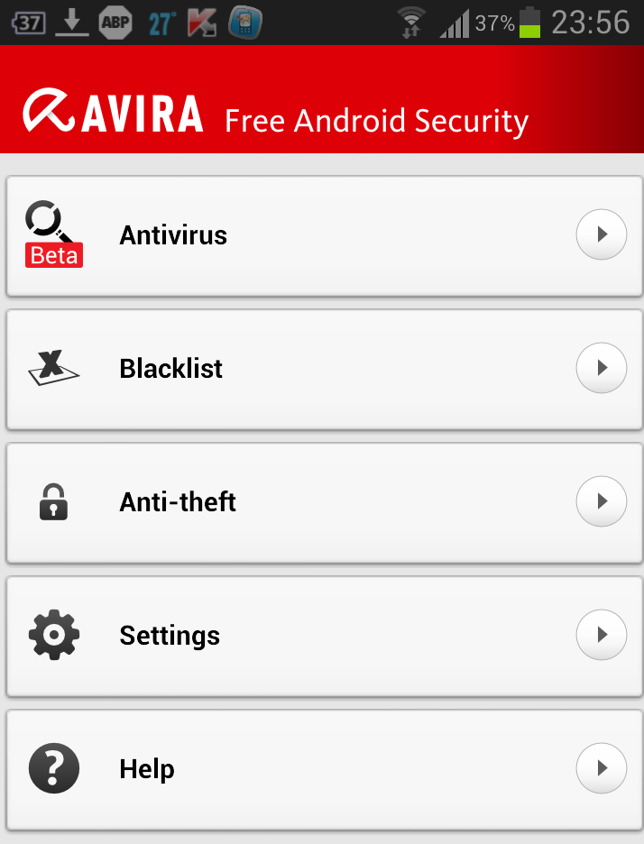 Avira Free Android Security app