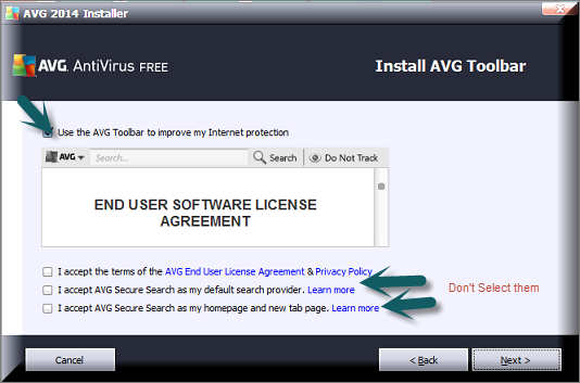 Install-AVG-Tool-Bar AVG Antivirus Free 2014 Released