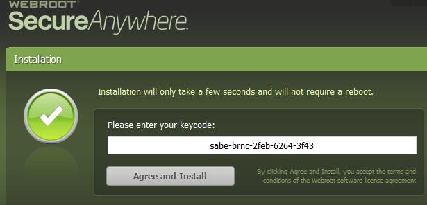 webroot secureAnywhere license