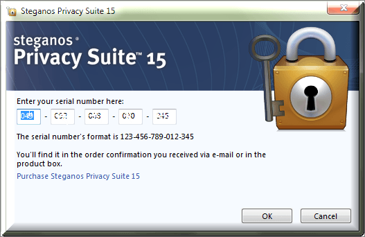 Steganos Privacy Suite 15 serial number