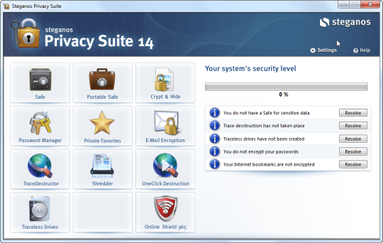 Steganos Privacy Suite 15