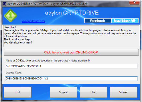 abylon CRYPTDRIVE license