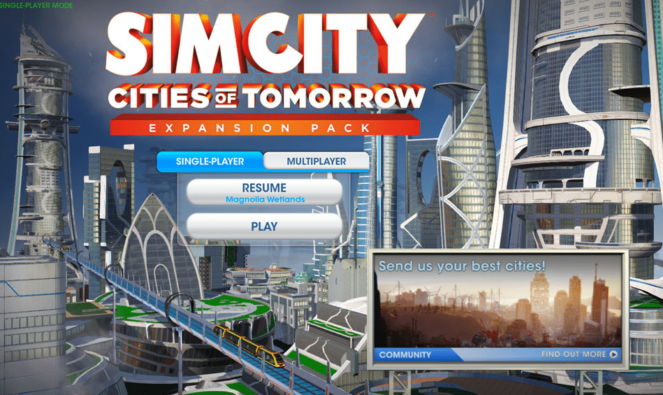 Simcity offline play