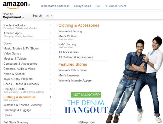 Amazon india Launches Denim Hangout