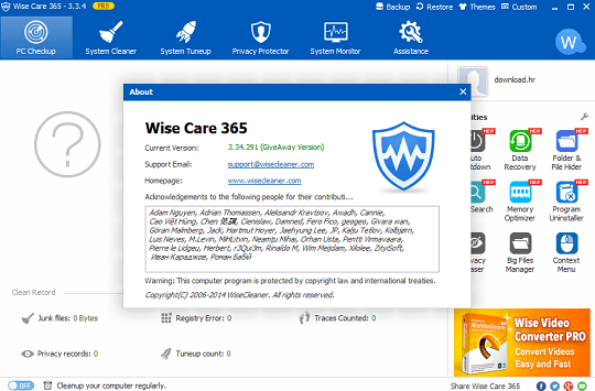Wise Care 365 Pro  license