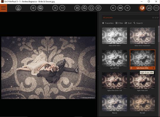 dxo filmpack 5 interface