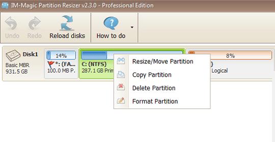 IM-Magic Partition Resizer Pro v2.3
