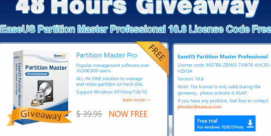 Easeus Partition Master Professional License Code