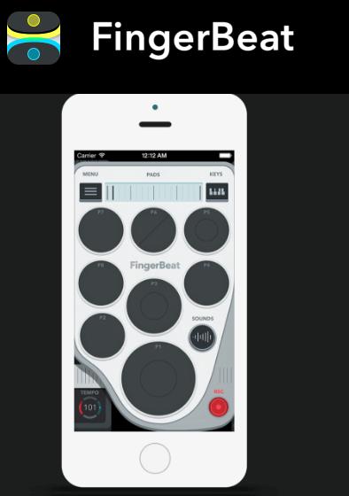 FingerBeat drum pad app