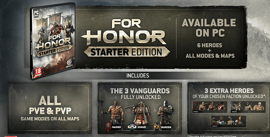 For Honor Starter Edition free