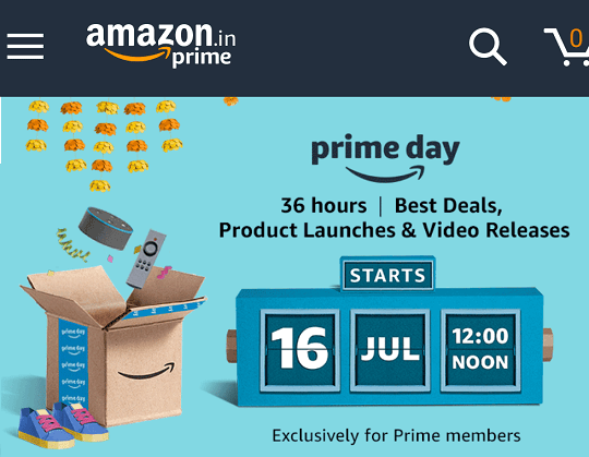 amazon prime day on july 16 best deals for 36 hours india. Black Bedroom Furniture Sets. Home Design Ideas